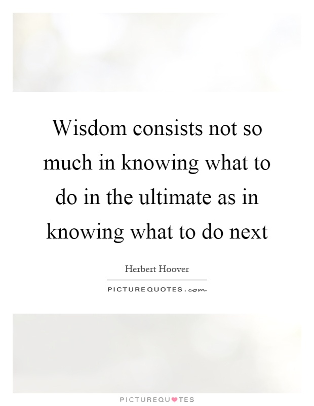 Knowing What To Do Quo...