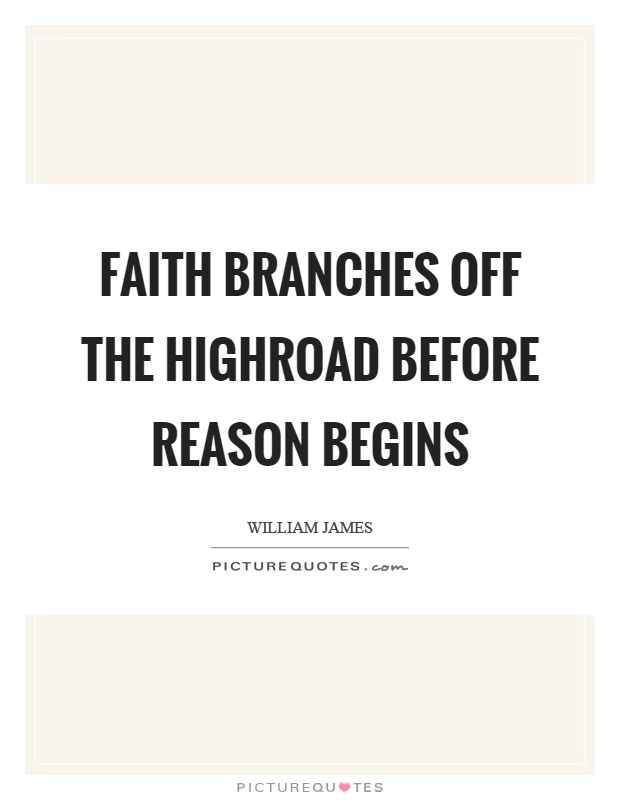 Faith branches off the highroad before reason begins Picture Quote #1