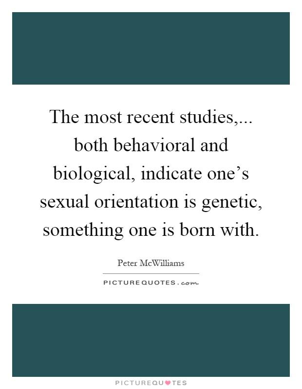 Is Sexual Orientation Genetic