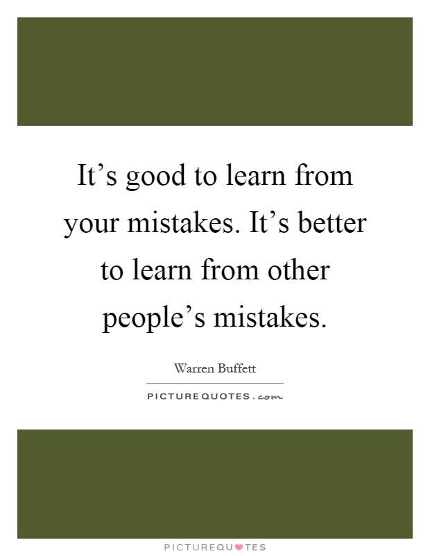 How to learn from your mistakes