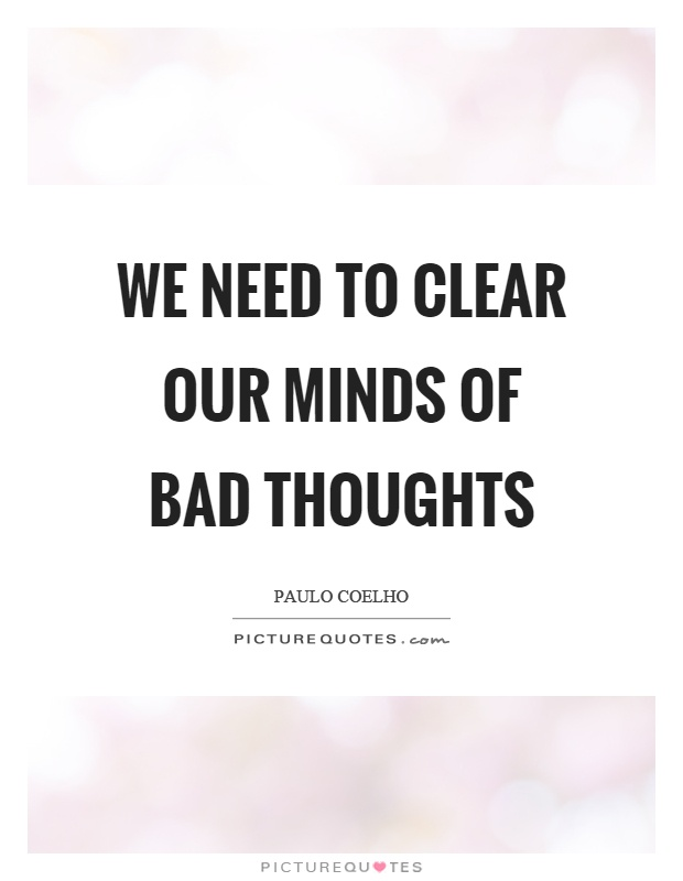 how to clear your thoughts