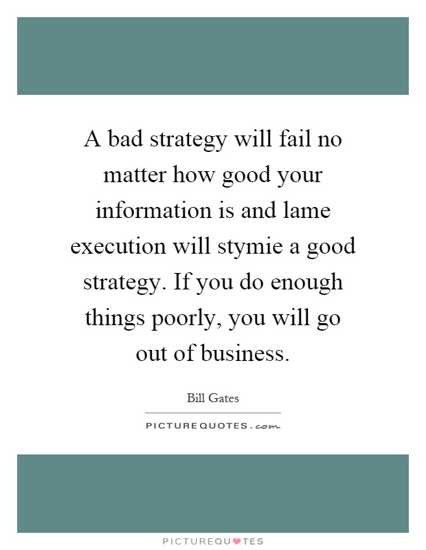the perils of bad strategy Richard rumelt - mckinsey quarterly if we want to create a good strategy, there is some value in understanding what makeas a bad one this paper sets out to do exactly that and ends even more helpfully by reversing that into three key characteristics of a good strategy - understanding the problem describing a guiding.
