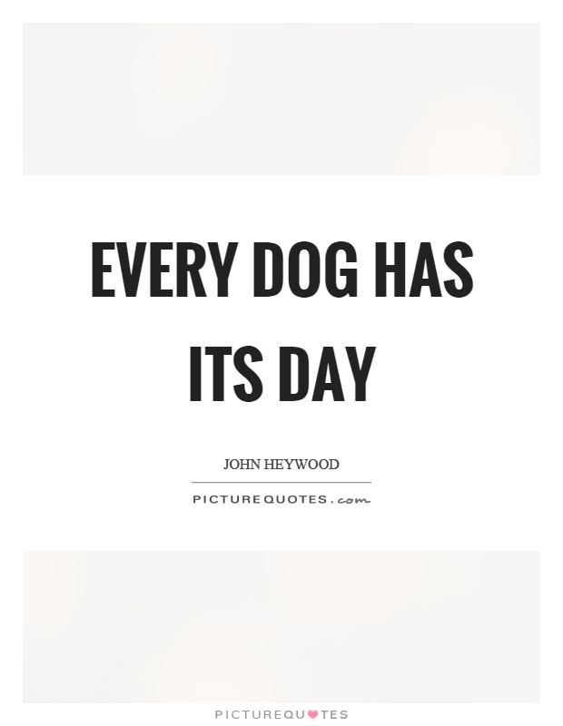 Every dog has its day Picture Quote #1