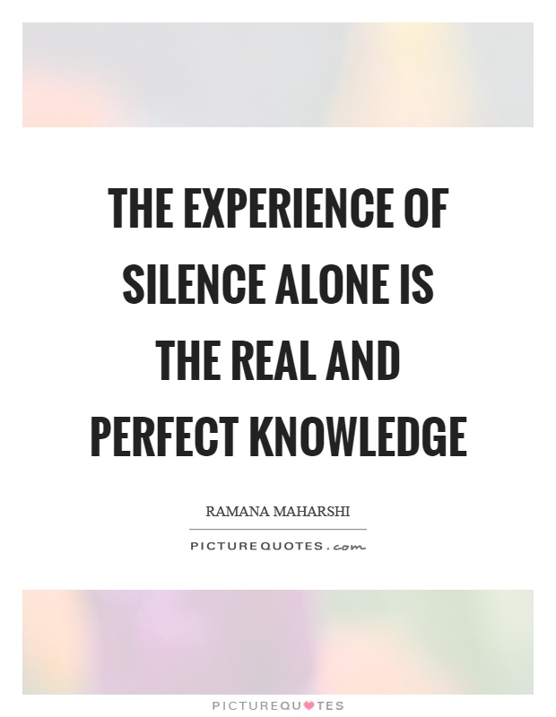 the experience of silence I will always look back fondly on the experience of reading the house of silence i say experience because that was precisely what it was (lovecraft ezine.