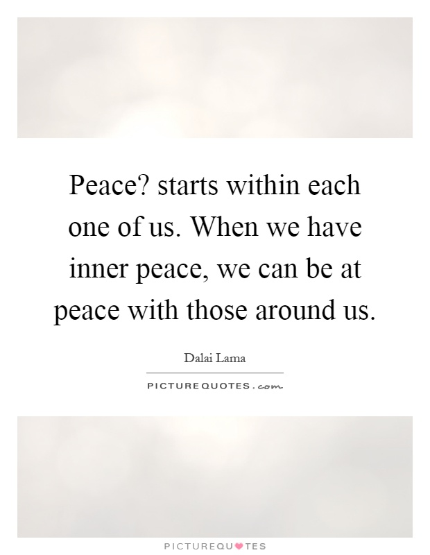 peace starts from within essay