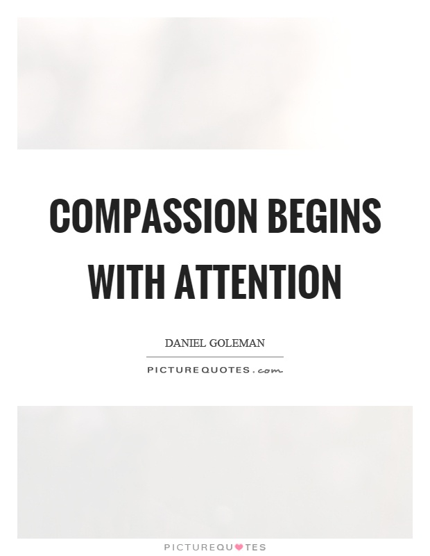 Compassion begins with attention Picture Quote #1