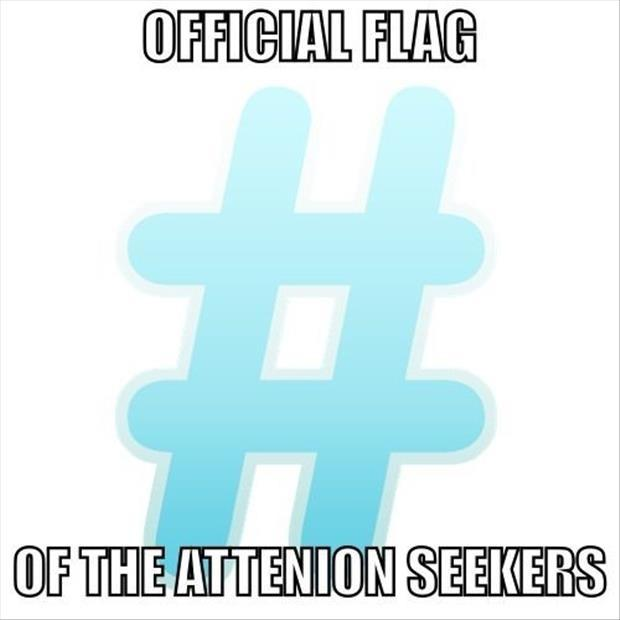 Official flag of the attention seekers Picture Quote #1