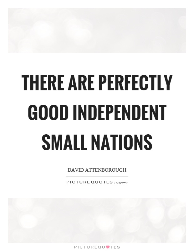 There are perfectly good independent small nations Picture Quote #1