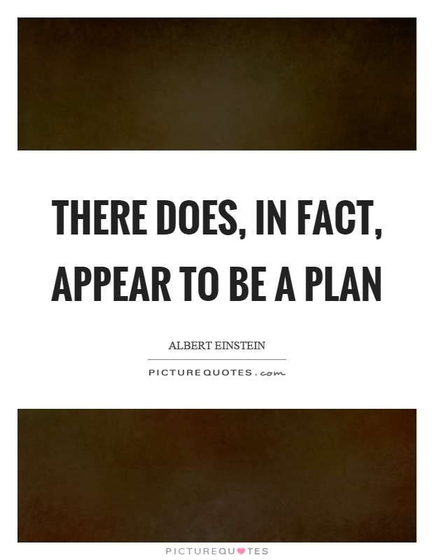 There does, in fact, appear to be a plan Picture Quote #1