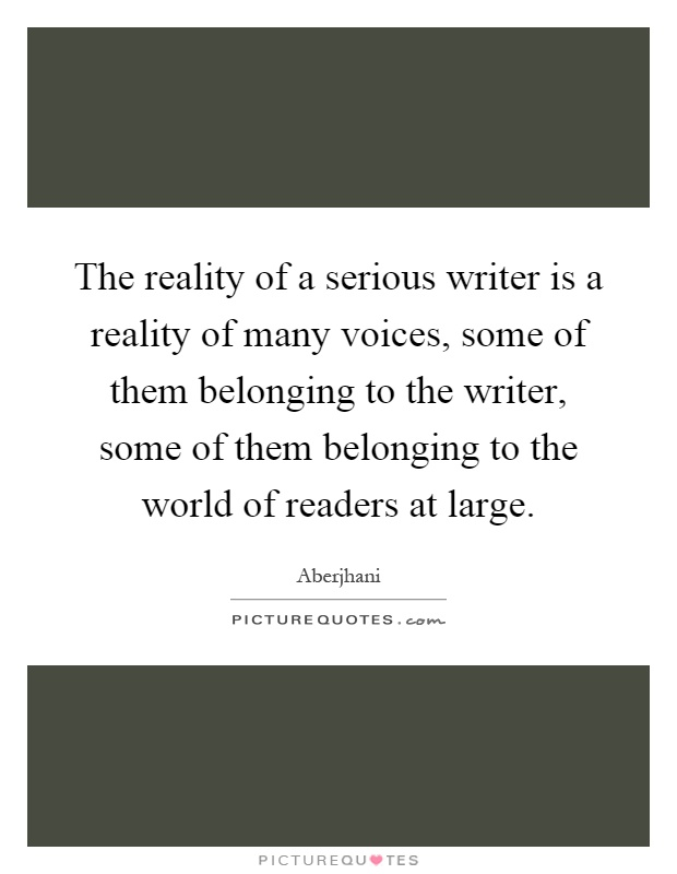 The voice of a writer
