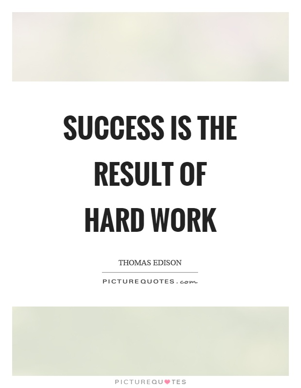 Success is the result of hard work Picture Quote #1