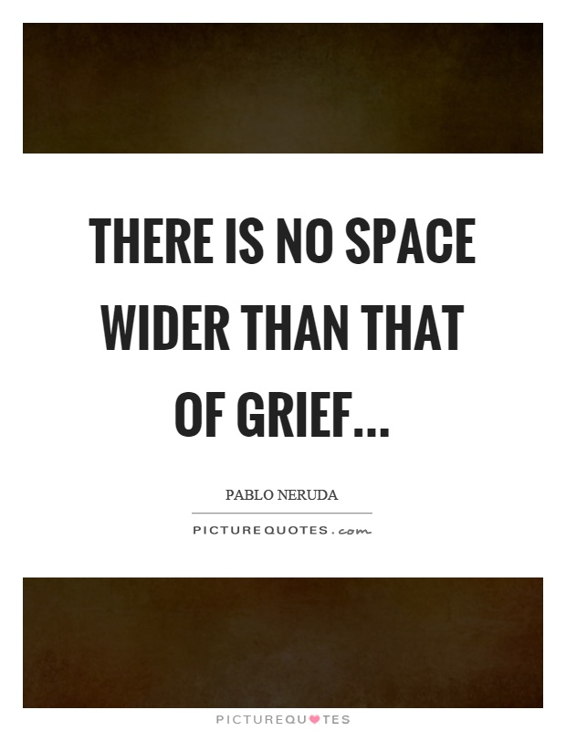 There is no space wider than that of grief Picture Quote #1
