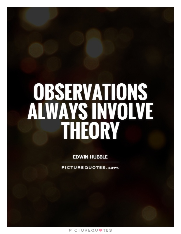 Observations always involve theory Picture Quote #1