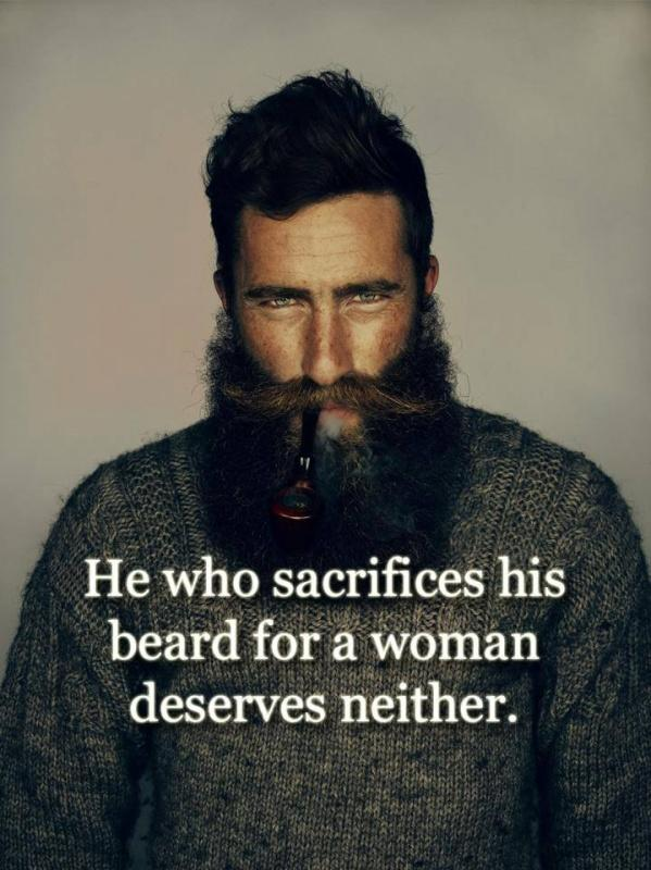 He who sacrifices his beard for a woman deserves neither Picture Quote #1