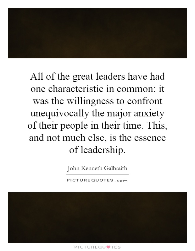 an analysis of the characteristics of great leaders A coach shares his lessons from the basketball court, noting that the failure quotient is more important than iq.