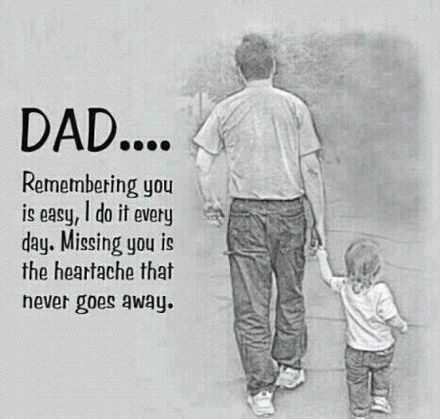 Dad... Remembering you is easy, I do it every day. Missing you is the heartache that never goes away Picture Quote #1
