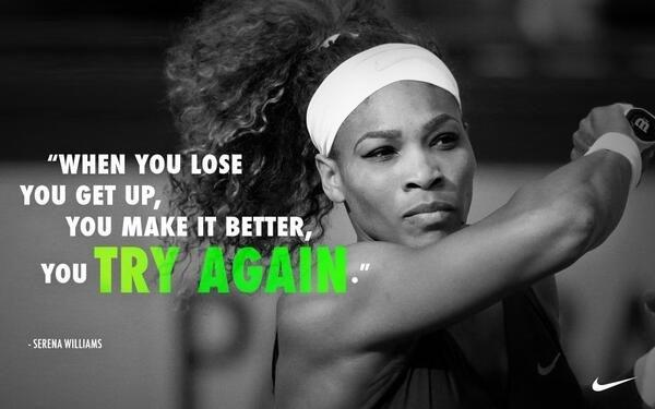 When you lose you get up, you make it better, you try again Picture Quote #1