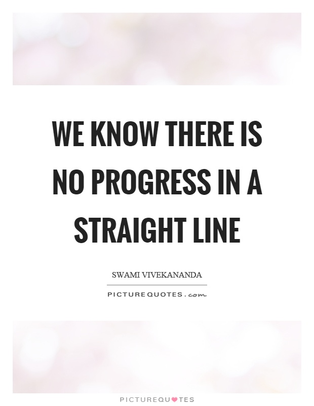We know there is no progress in a straight line Picture Quote #1