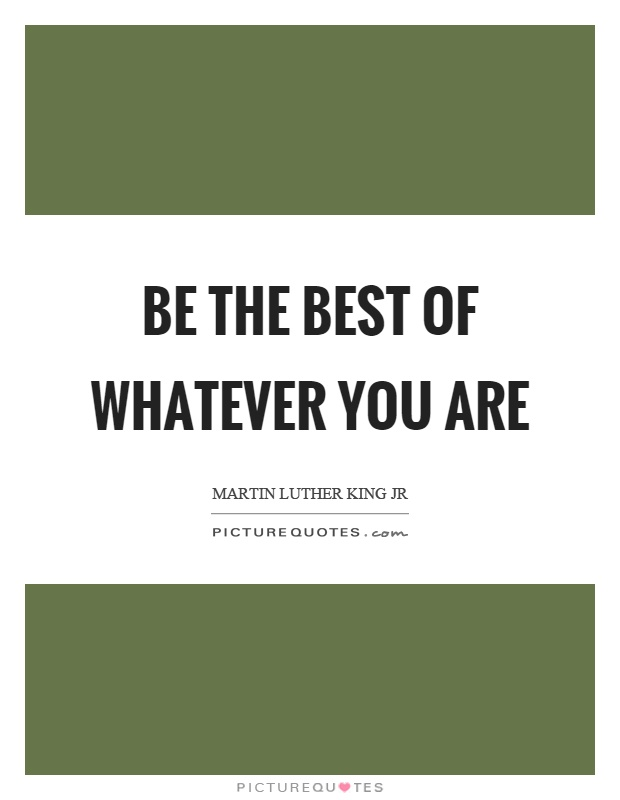 Be the best of whatever you are Picture Quote #1