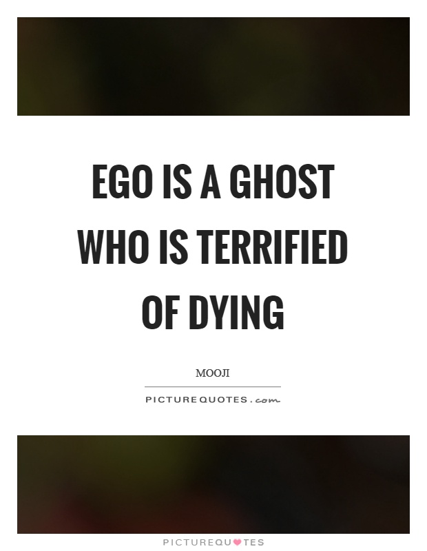 Ego is a ghost who is terrified of dying Picture Quote #1