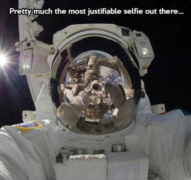 Pretty much the most justifiable selfie out there Picture Quote #1