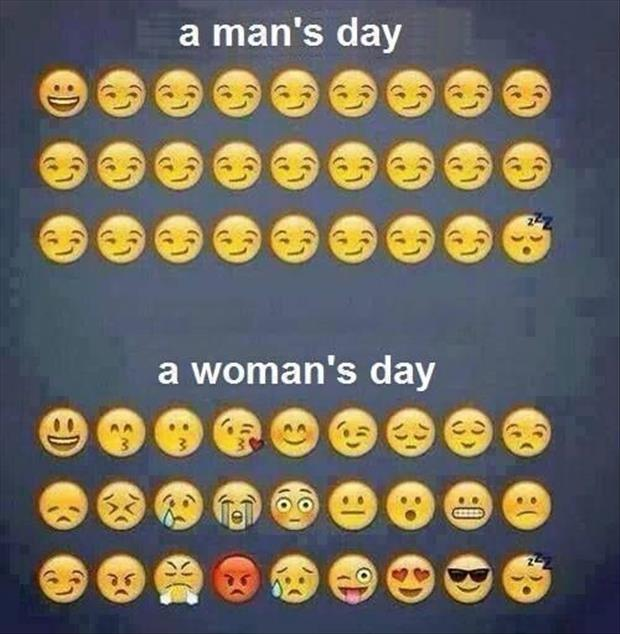 A man's day. A woman's day Picture Quote #1