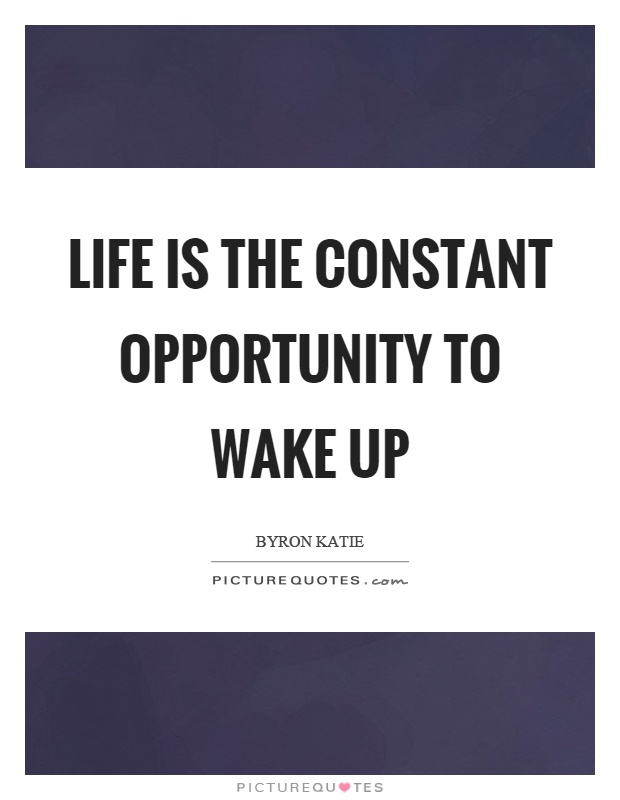 Life is the constant opportunity to wake up Picture Quote #1