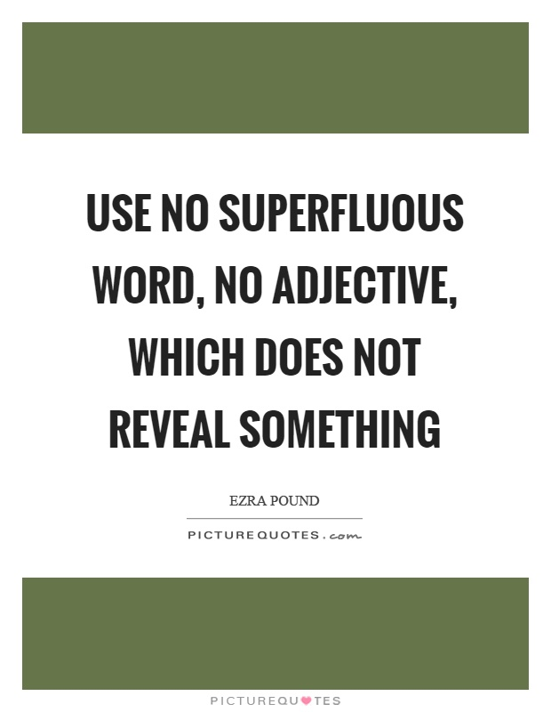 Use no superfluous word, no adjective, which does not reveal something Picture Quote #1