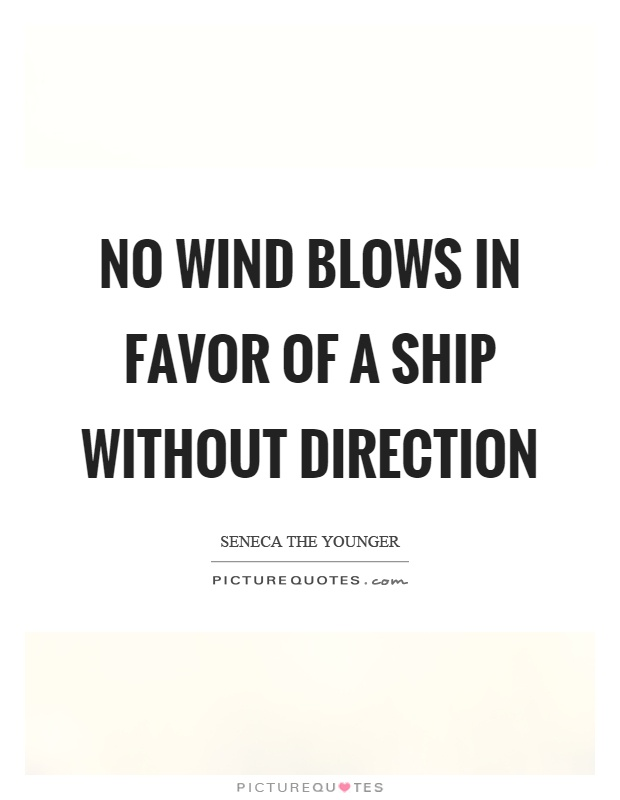 No wind blows in favor of a ship without direction Picture Quote #1