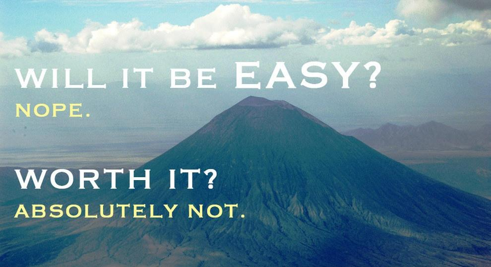 Will it be easy? Nope. Worth it? Absolutely not Picture Quote #1