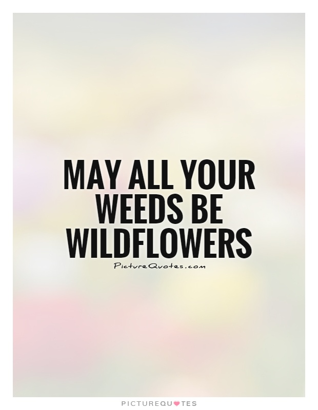 May all your weeds be wildflowers Picture Quote #1