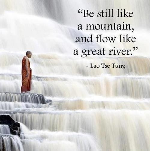 Be still like a mountain and flow like a great river Picture Quote #2