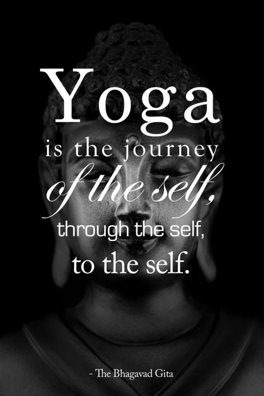 Yoga is the journey of the self, through the self, to the self Picture Quote #1