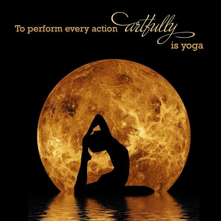 To perform every action artfully is yoga Picture Quote #1