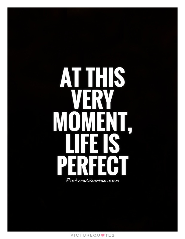 At this very moment, life is perfect Picture Quote #1