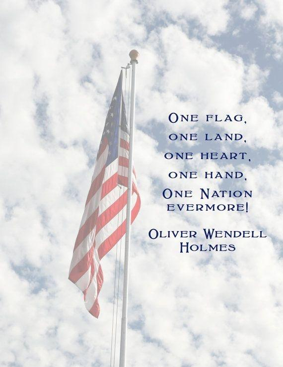 One flag, one land, one heart, one hand, one nation evermore! Picture Quote #1