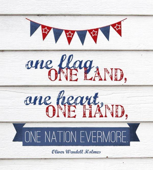 One flag, one land, one heart, one hand, one nation evermore! Picture Quote #2