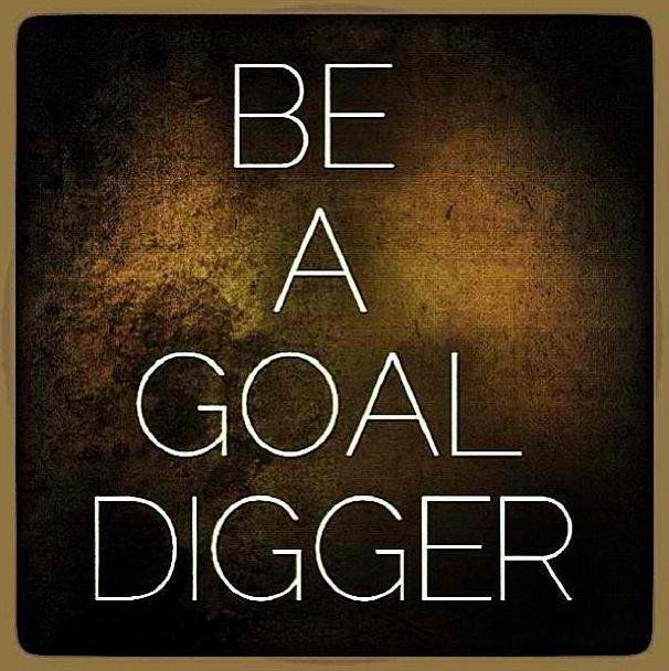 Always be a goal digger Picture Quote #3