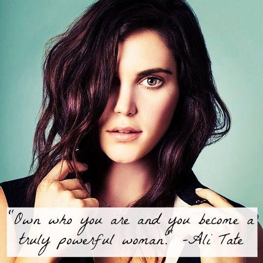 Own who you are and you become a truly powerful woman Picture Quote #1
