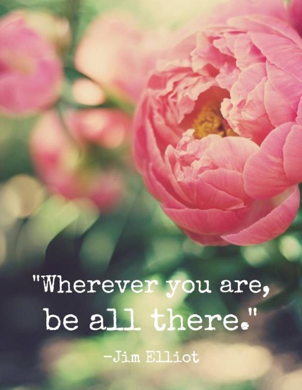 Wherever you are be all there Picture Quote #1