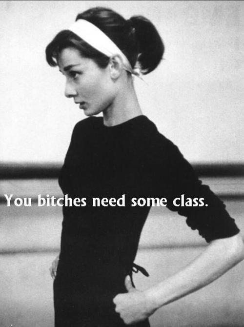 You bitches need some class Picture Quote #1