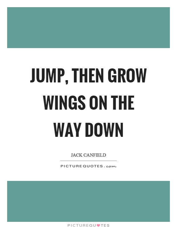 Jump, then grow wings on the way down Picture Quote #1