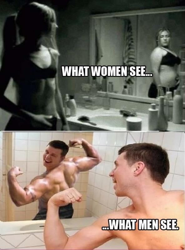 What women see. What men see Picture Quote #1