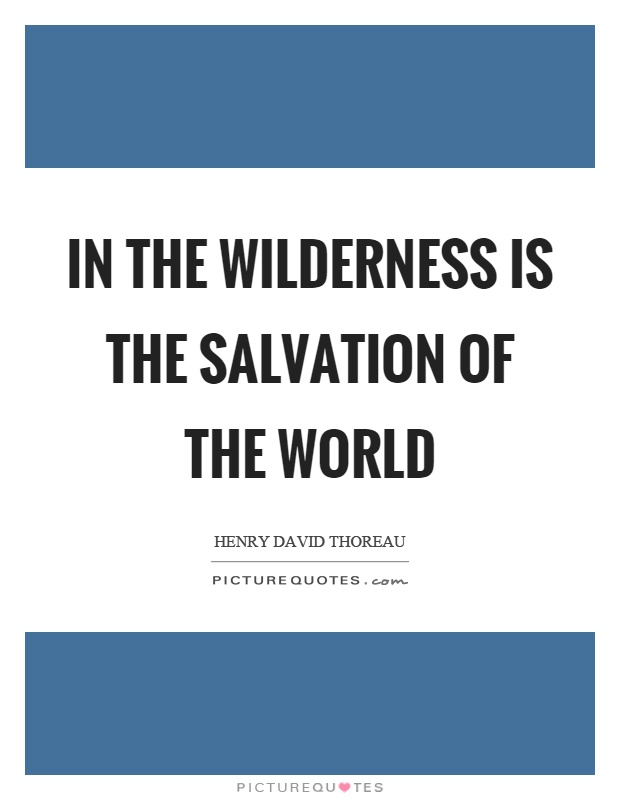 In the wilderness is the salvation of the world Picture Quote #1