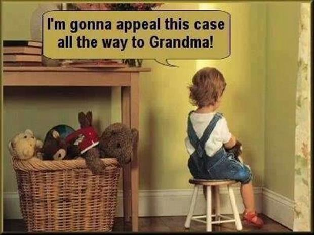 I'm gonna appeal this case all the way to grandma! Picture Quote #1