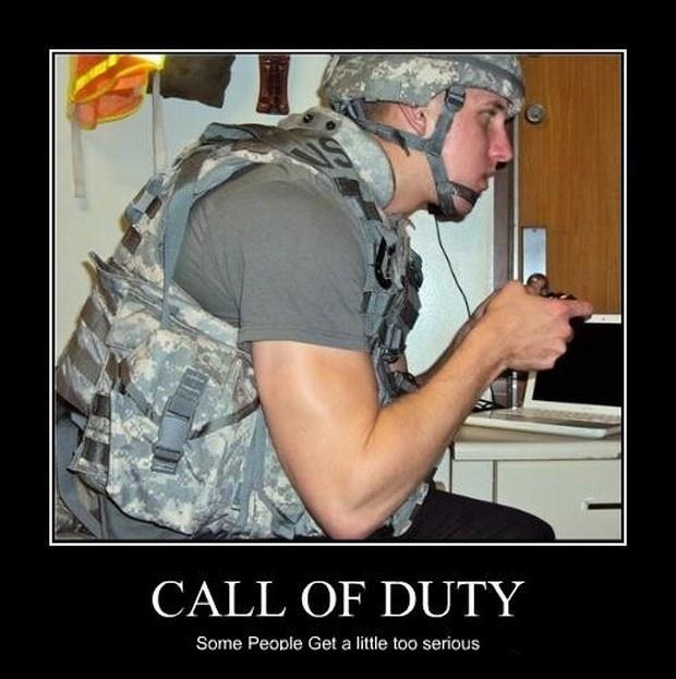 Call of duty. Some people get a little too serious Picture Quote #1