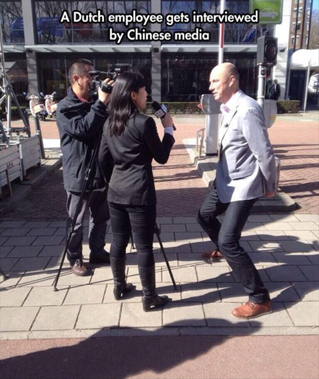 A Dutch employee gets interviewed by Chinese media Picture Quote #1
