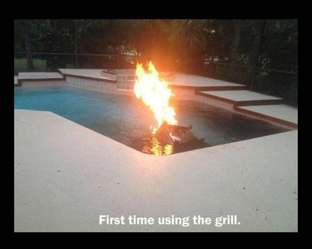 First time using the grill Picture Quote #1