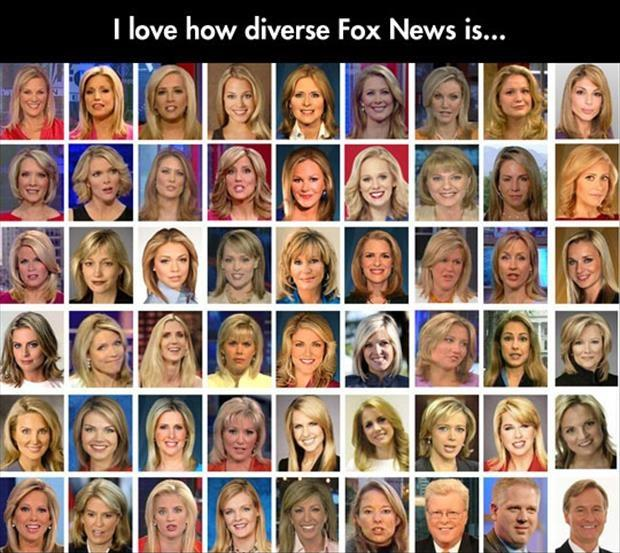 I love how diverse Fox News is Picture Quote #1
