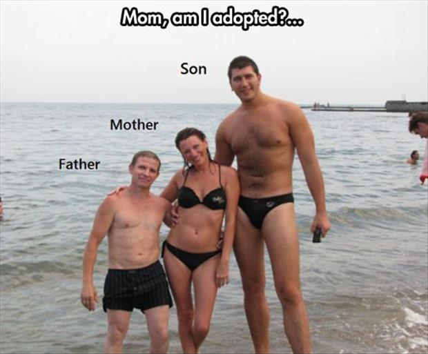 Mom, am I adopted? Son. Mother. Father Picture Quote #1